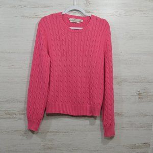 Tommy Hilfiger Pink Cable Knit Sweater XL